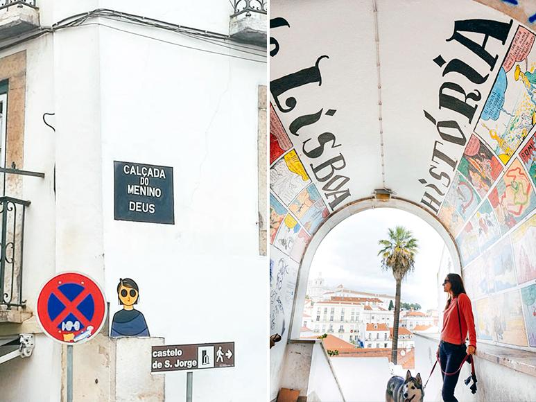 Cómic de la Historia de Lisboa (Miradouro Portas Do Sol)