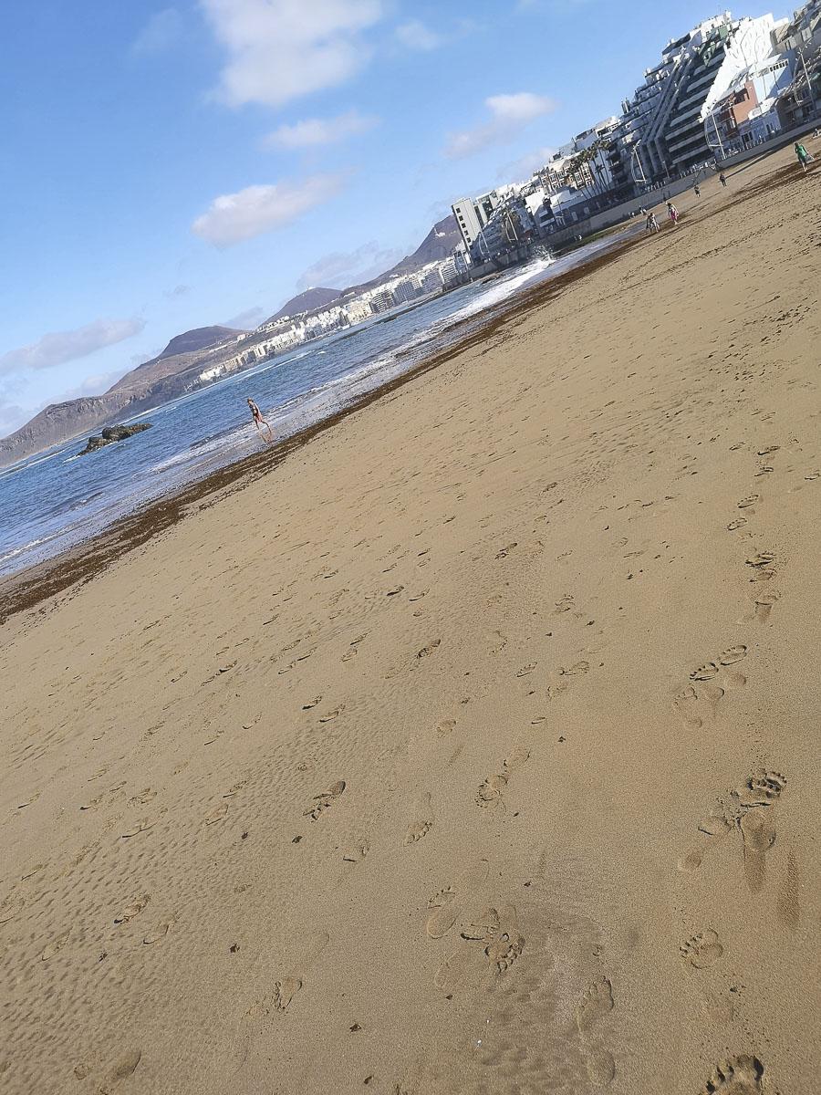 Correr por el paseo marítimo de Las Canteras