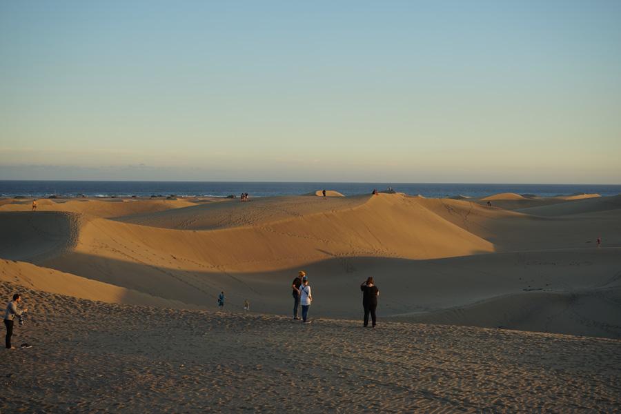 Las Dunas de la playa de Mas Palomas y el faro