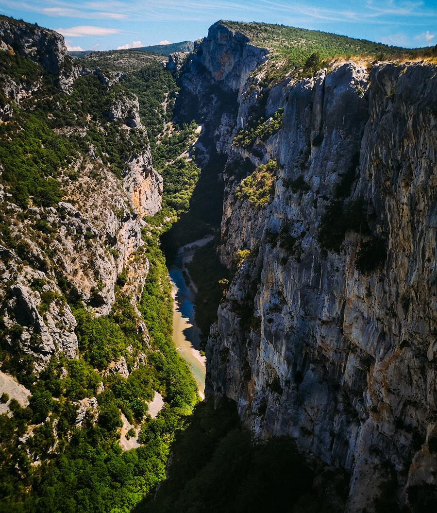 Altura del cañon en las Gargantas del Verdon o las Gorges du Verdon