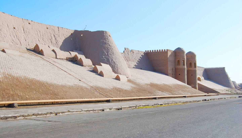 Murallas que protegen la ciudad de Jiva