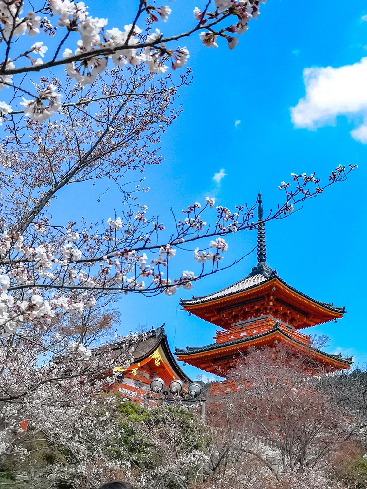 Pagoda en el templo de Kiyomizudera