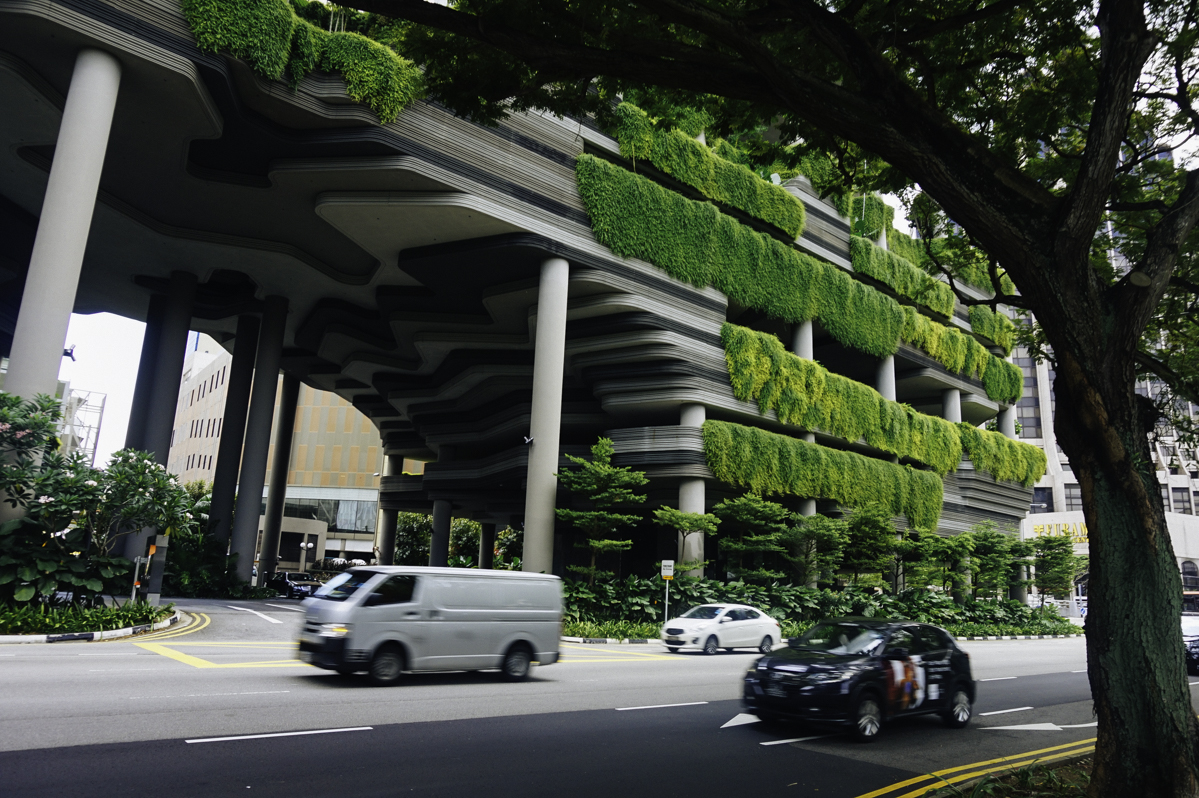 terrazas verdes o jardines verticales en Singapur
