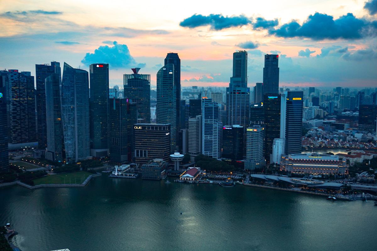 Vistas del skyline desde Marina Bay Sands