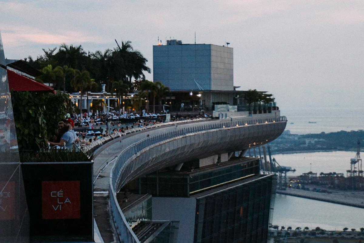 La famosa infinity pool de Marina Bay Sands