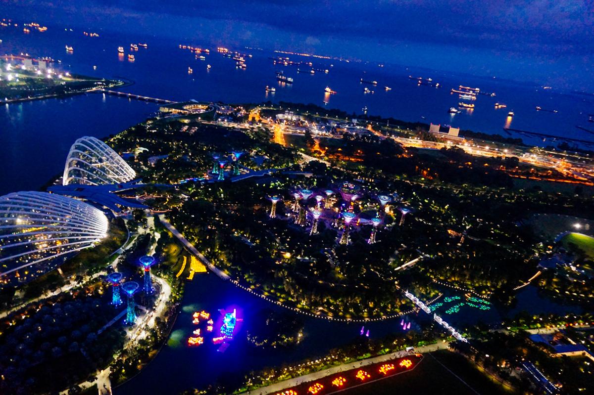 Vistas desde Marina Bay Sands